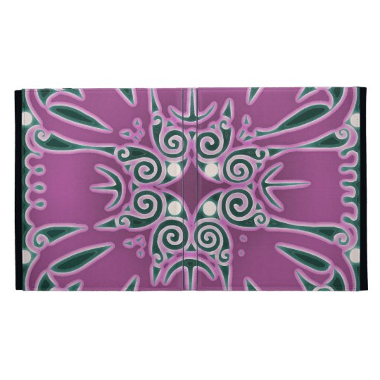 Swirly Purple Flower iPad Cases