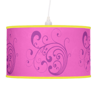Swirly Purple Hanging Pendant Lamp