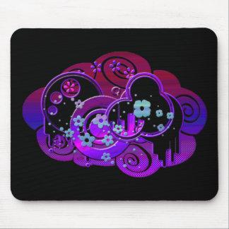 Swirly Purple Mouse Pad