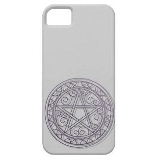Swirly purple pentacle iPhone SE/5/5s case