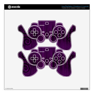 Swirly Purple PS3 Controller Decal