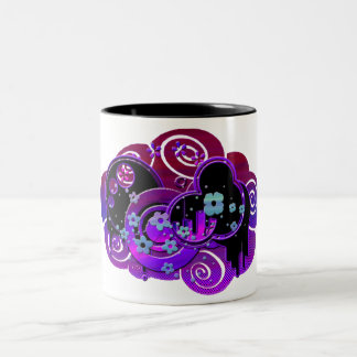 Swirly Purple Two-Tone Coffee Mug