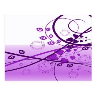Swirly Purple Vines Post Card