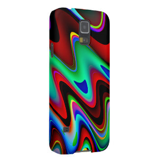 Swirly Red Black Blue Abstract Case For Galaxy S5
