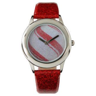 Swirly Red Sparkle Watches