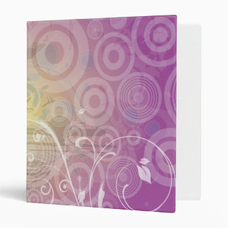 Swirly retro 3 ring binder