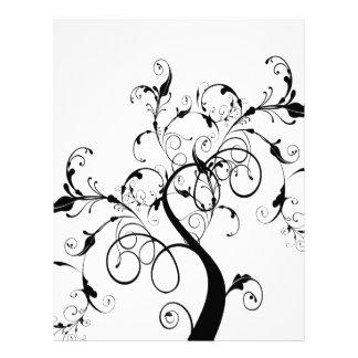 Swirly romantic tree letterhead