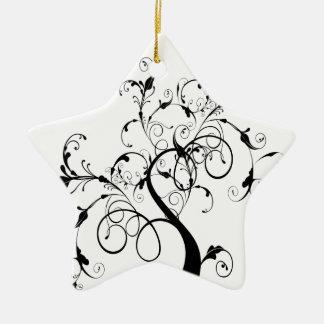 Swirly romantic tree christmas ornaments