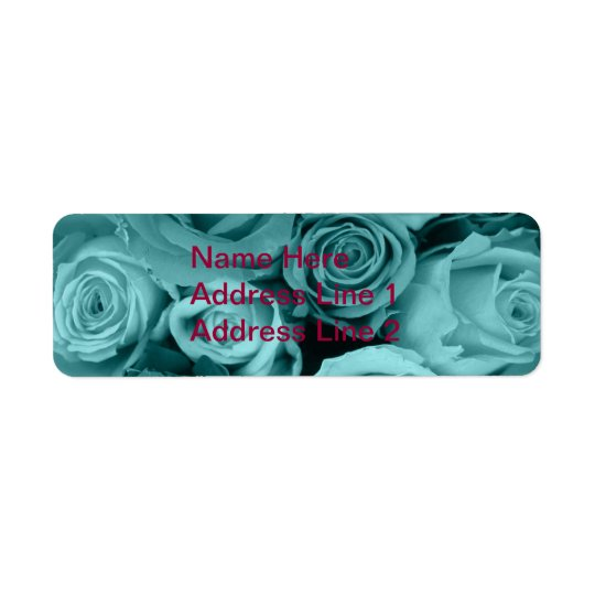 Swirly Rose Bouquet Label