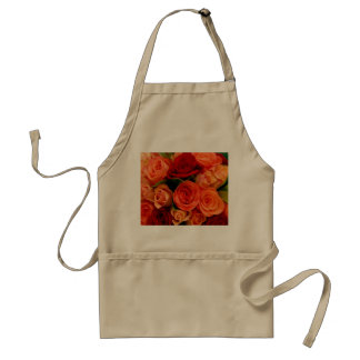 Swirly Roses Bouquet Adult Apron