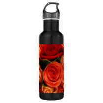 Swirly Roses Bouquet Stainless Steel Water Bottle