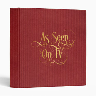 Swirly Script Calligraphy As Seen on TV Gold 3 Ring Binder