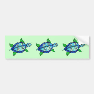 Swirly Sea Turtles Bumper Stickers