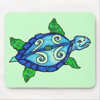 Swirly Sea Turtles Mouse Pad