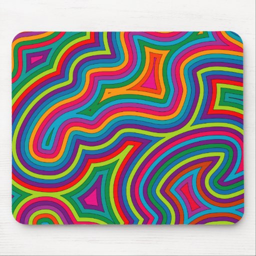 Swirly Shades of Colour Mousepad