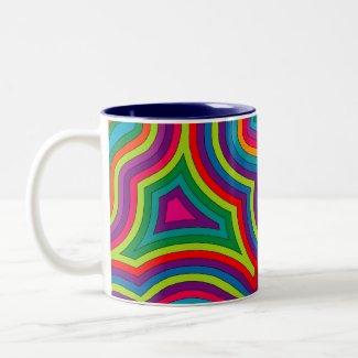 Swirly Shades of Colour Mug mug