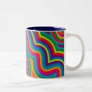 Swirly Shades of Colour Mug