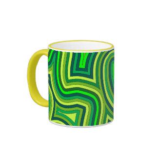 Swirly Shades of Green Mug