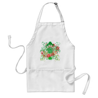 Swirly Shamrocks St. Patrick's Day Adult Apron