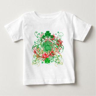 Swirly Shamrocks St. Patrick's Day Baby T-Shirt