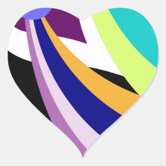 Swirly Sky Heart Sticker