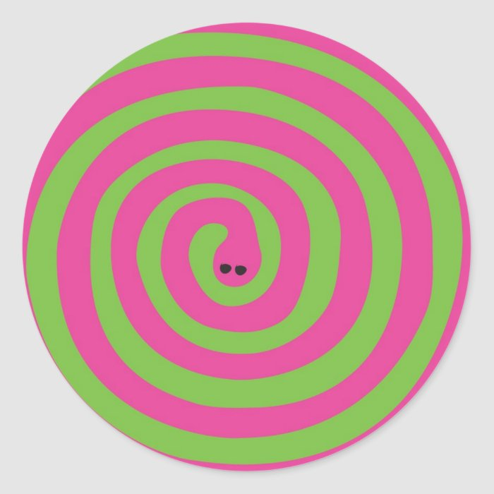 Swirly snake classic round sticker