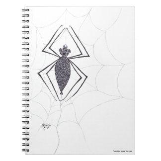 """""""Swirly Spider"""" Notebook"""