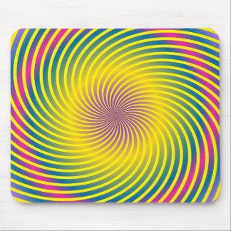 Swirly Spiral Effect Mousepad
