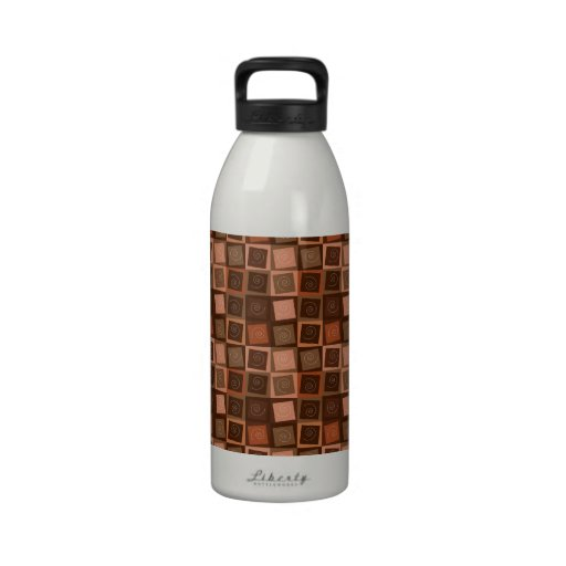 Swirly Squares Water Bottle