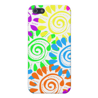 Swirly Sunshine Flowers Cover For iPhone SE/5/5s