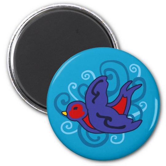 Swirly Swallow Magnet