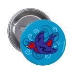 Swirly Swallow Pinback Button