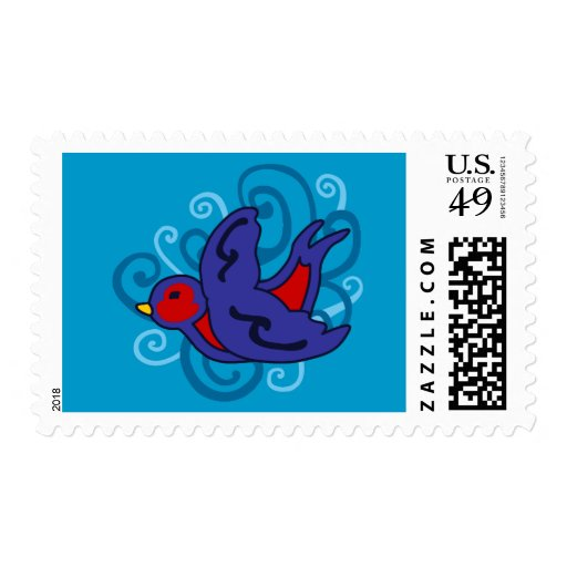Swirly Swallow Postage