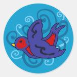 Swirly Swallow Sticker