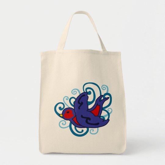 Swirly Swallow Tote Bag