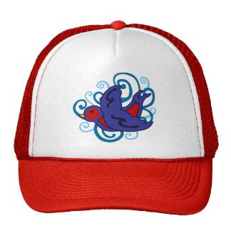 Swirly Swallow Trucker Hat