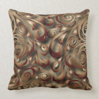Swirly Swirls Olive Square Pillow