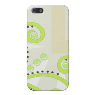 Swirly Swirls, Shapes, & Dots Lime Green Cover For iPhone SE/5/5s