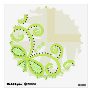 Swirly Swirls, Shapes, & Dots Lime Green Room Decal