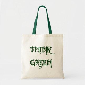 "Swirly ""Think Green"" Bag"