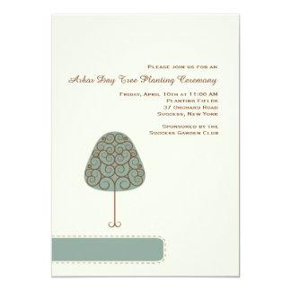Swirly Tree Arbor Day Invitation