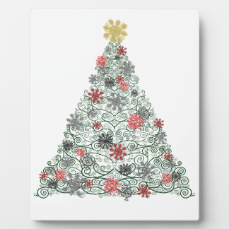 Swirly Tree Decorated Plaque