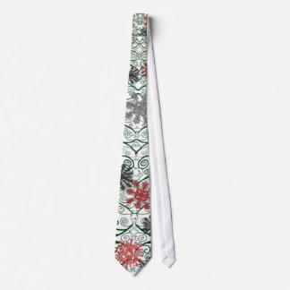 Swirly Tree Decorated Tie
