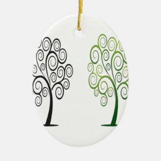 Swirly tree design ornaments