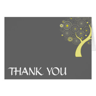 Swirly Tree Thank you cards