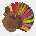 Swirly Turquía Etiquetas Redondas