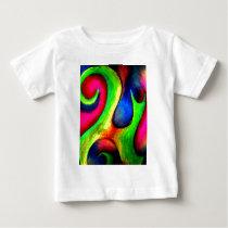 Swirly Twirly Bright Pattern Baby T-Shirt