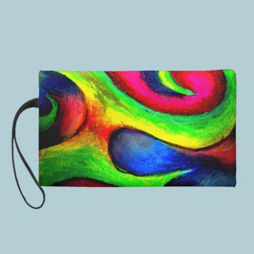Swirly Twirly Neon Pattern Wristlets