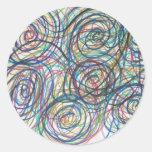 Swirly Twirly Pegatinas Redondas