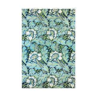 Swirly Victorian Floral Wallpaper Pattern Canvas Print
